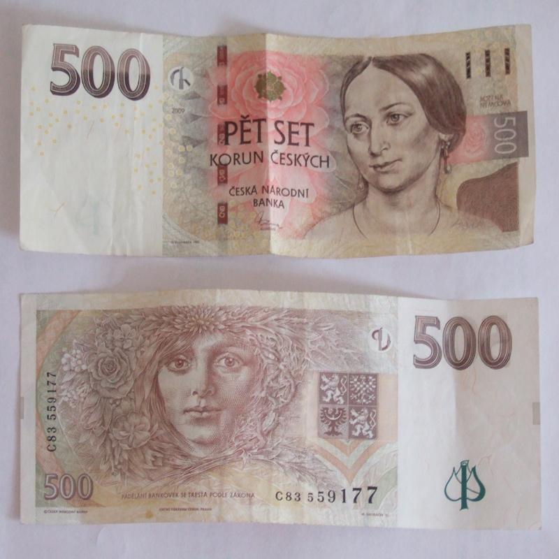 500 tschechische kronen geldscheine und goldbarren. Black Bedroom Furniture Sets. Home Design Ideas